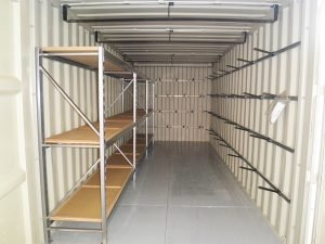 Organized Storage Container with Shelving
