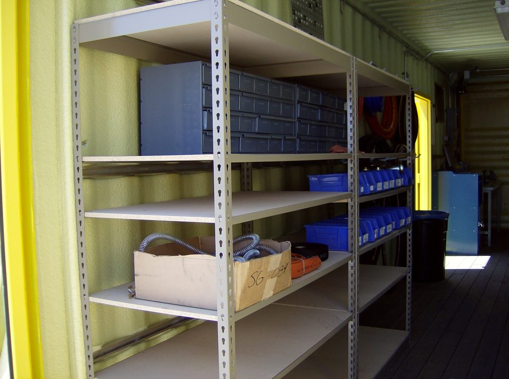 Organized Storage Container Shelving